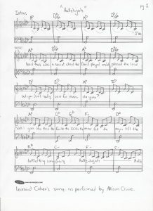 Hallelujah Christmas Piano Sheet Music