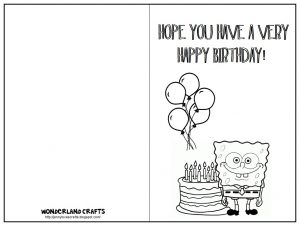 Happy Birthday Cards Color and Print