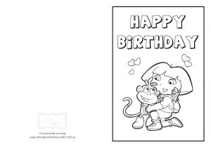 Happy Birthday Coloring Cards