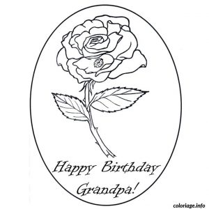 Happy Birthday Grandpa Coloring Card