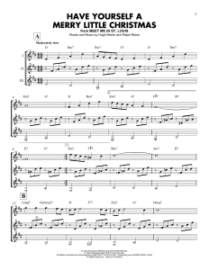 Have Yourself a Merry Little Christmas Advanced Jazz Piano Sheet Music Free