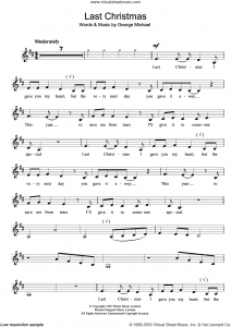 Last Christmas Free Piano Sheet Music