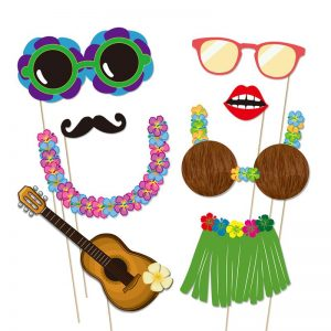 Luau Photo Booth Props Printable