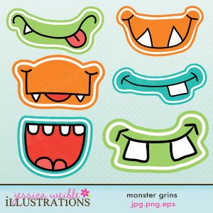 Monster Photo Booth Props Printable