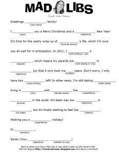 Night before Christmas Mad Lib Printable