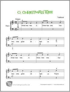 O Christmas Tree Jazz Piano Sheet Music