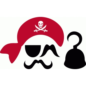 Pirate Photo Booth Props Free Printable