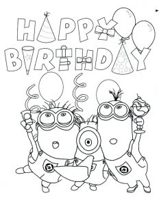 Printable Birthday Cards for Kids to Color