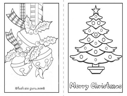 graphic regarding Printable Christmas Cards for Kids identified as 38 Pleased Coloring Xmas Playing cards
