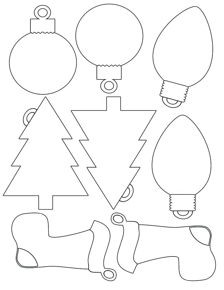photograph about Printable Christmas Decorations Cutouts referred to as 30 Cheerful Printable Xmas Ornaments