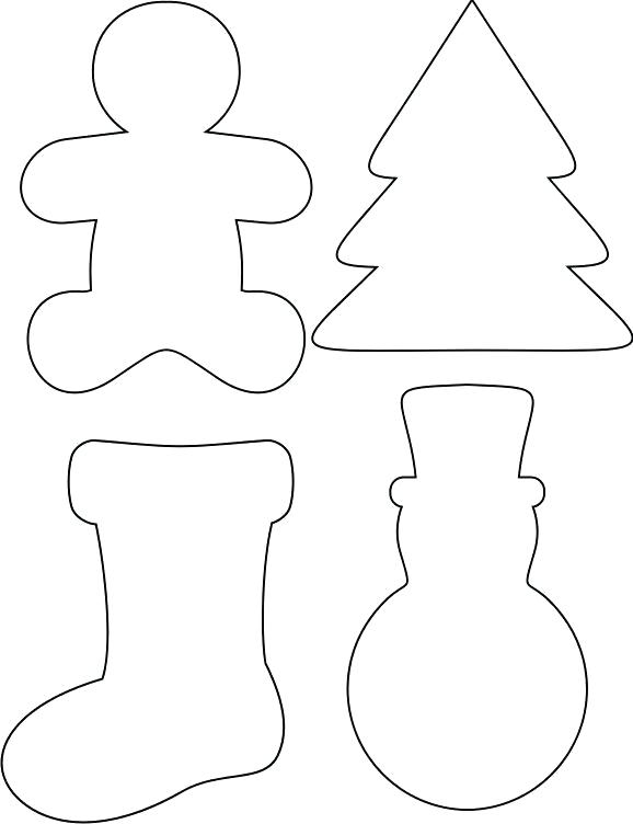 graphic regarding Printable Christmas Ornament Templates titled 30 Cheerful Printable Xmas Ornaments