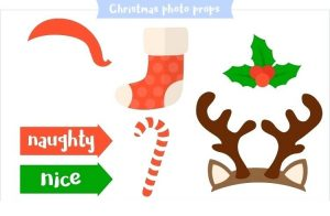 Printable Christmas Photo Booth Props