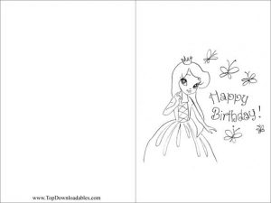 Printable Coloring Birthday Card