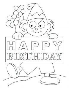 Printable Coloring Happy Birthday Cards