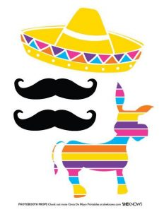 Printable Fiesta Photo Booth Props