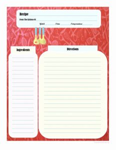 Printable Recipe Card Templates