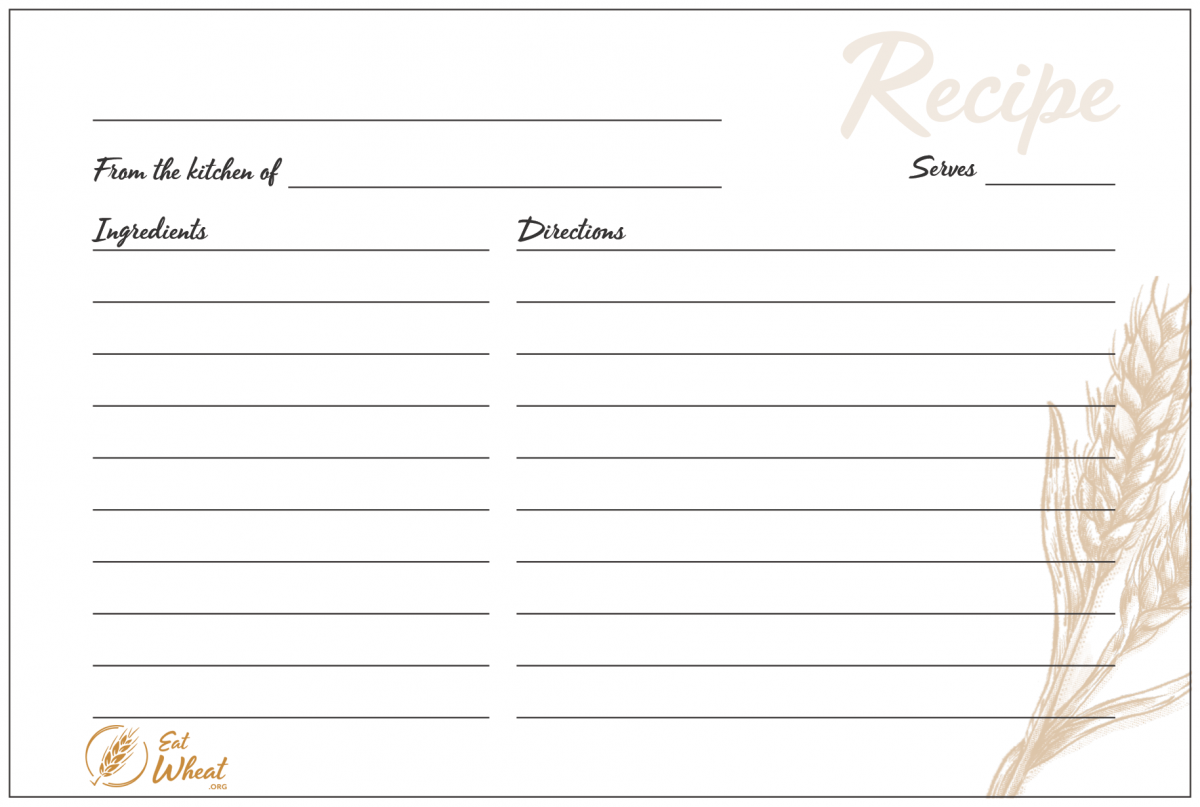 It is a photo of Geeky Recipe Card Printable