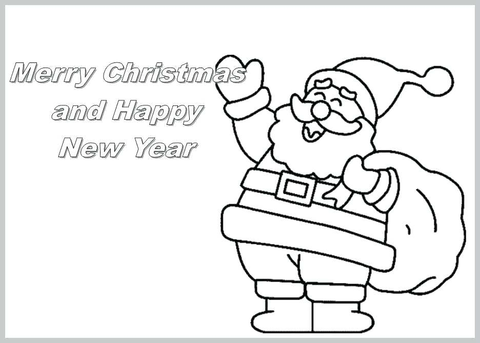 This is a photo of Sweet Printable Coloring Christmas Cards