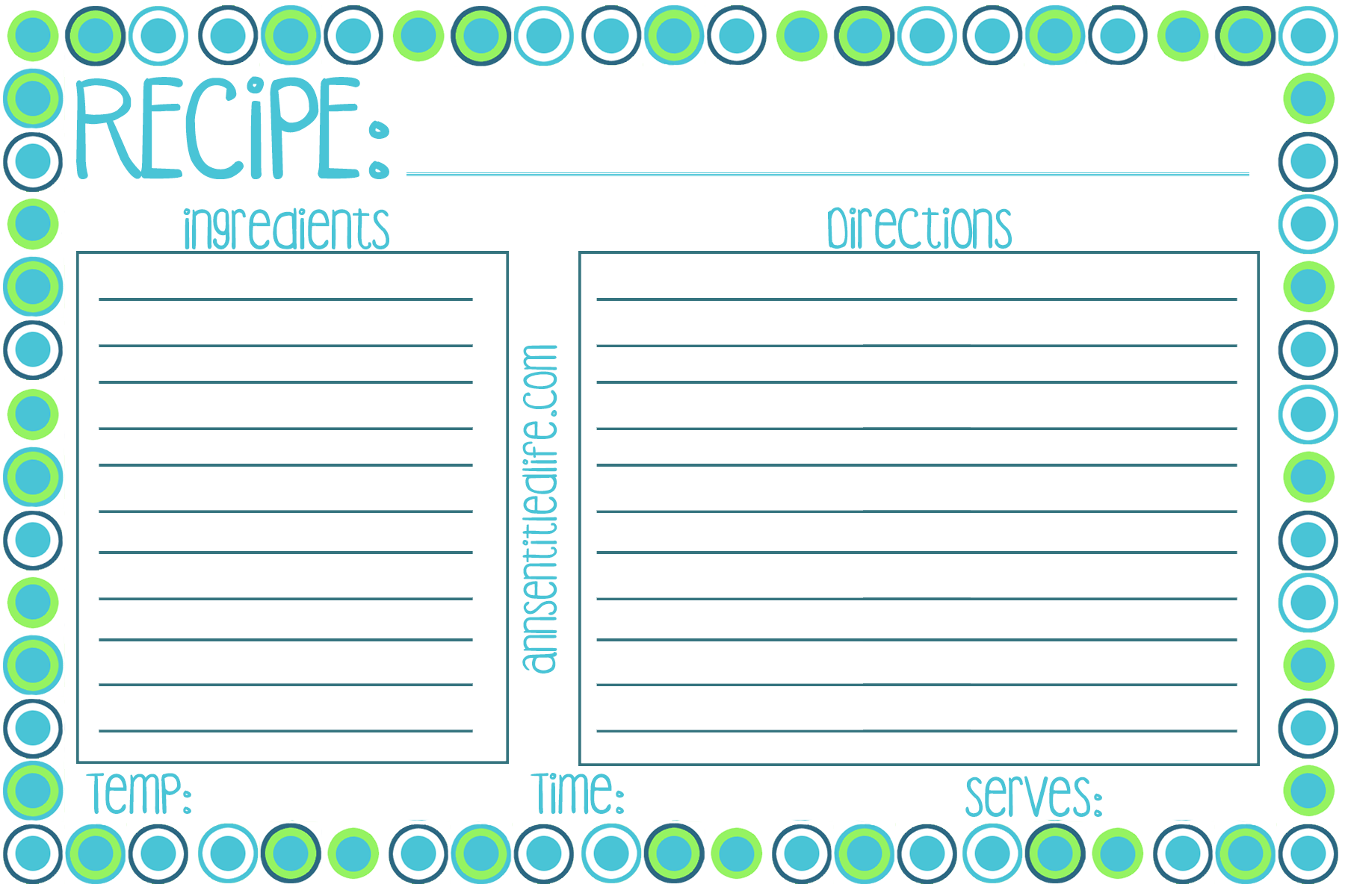 It's just an image of Dynamic Printable Recipe Card