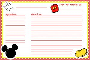 Recipe Cards Free Printable