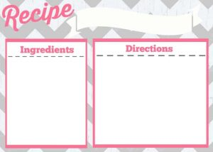 Recipe Cards Printable Free
