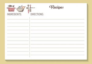 Recipe Cards Template