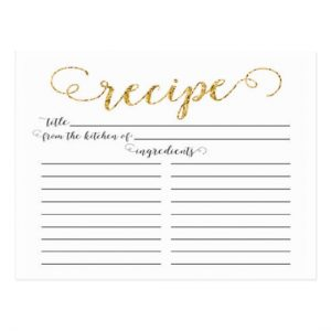 Recipe Cards from the Kitchen Of