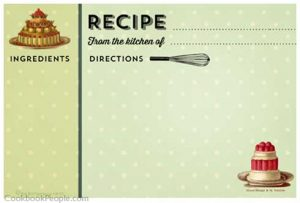 Retro Recipe Card Template