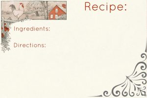 Rooster Recipe Cards