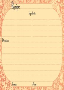 Thanksgiving Recipe Card Template Free