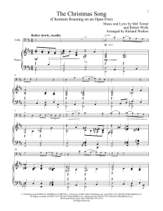 The Christmas Song Chestnuts Roasting Piano Sheet Music