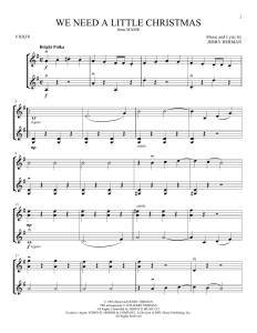 We Need a Little Christmas Sheet Music Piano