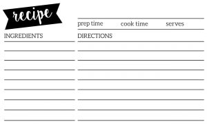 Wedding Recipe Card Template