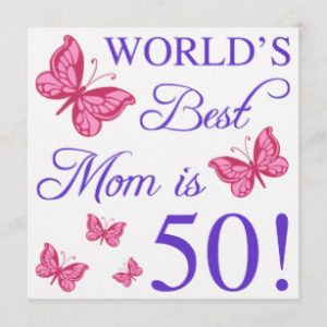 50th Birthday Card Ideas for Mom