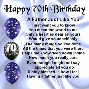 70th Birthday Card Messages Dad