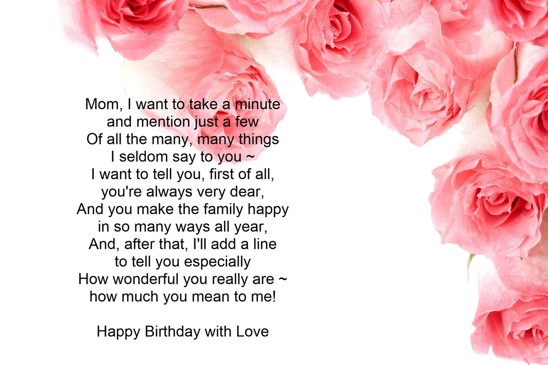 Birthday Card Verses For Mom
