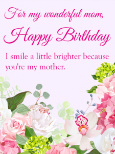 Birthday Card Wishes Designs for Mom