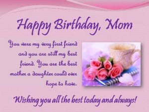 Birthday Card for Mom from Daughter