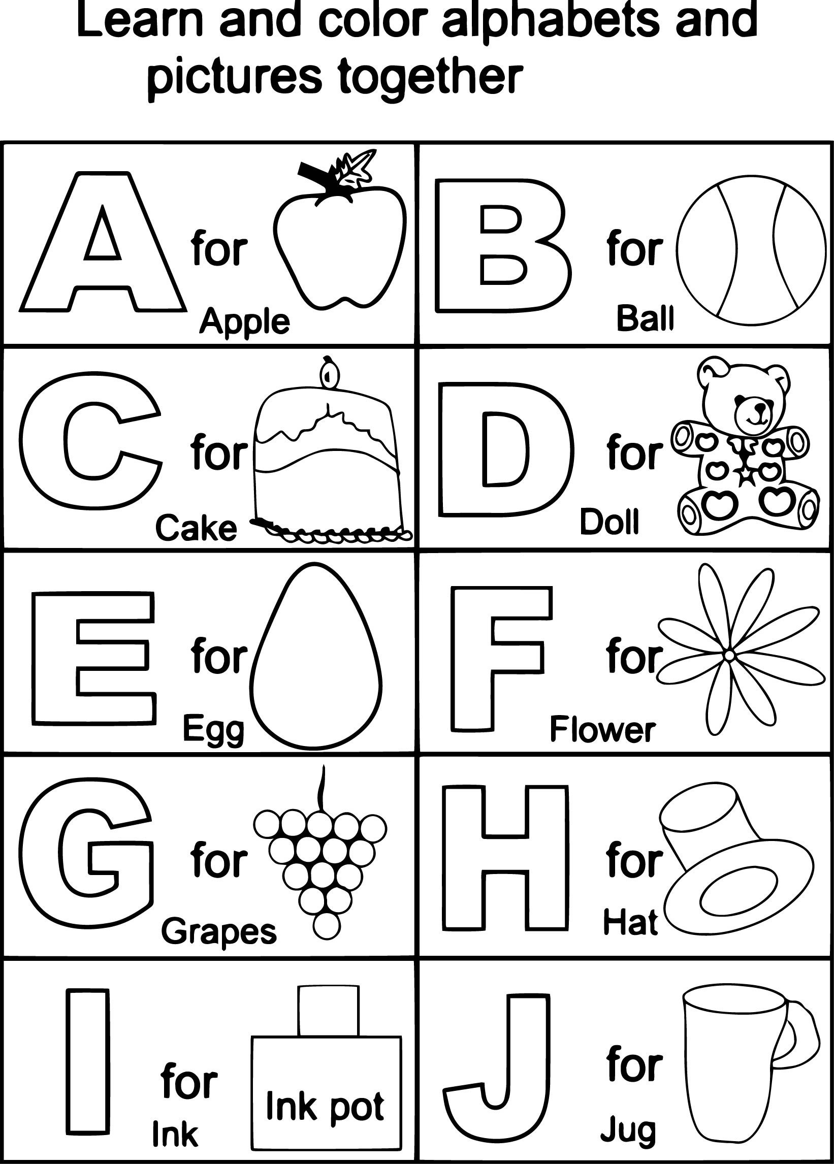 letter d coloring pages preschool black | 60 Alphabet Flash Cards to Print for Making Learning Fun ...