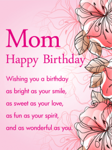 Card for Mom's Birthday