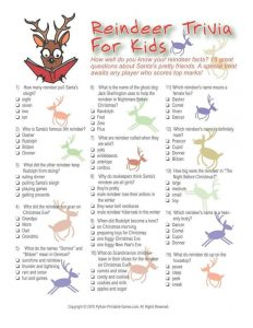 Children's Christmas Holiday Trivia and Answers