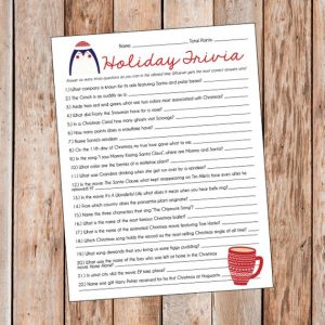 Christmas Trivia Party Games