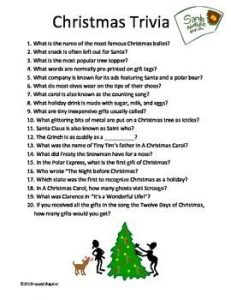 Christmas Trivia Questions for Kids