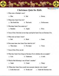 Christmas Trivia with Answers