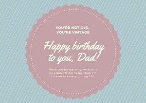 Dad Birthday Card Messages