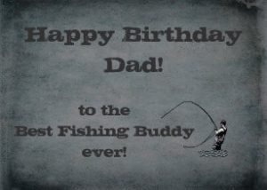 Dad Fishing Birthday Card