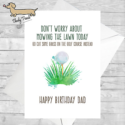 Dad Golf Birthday Card