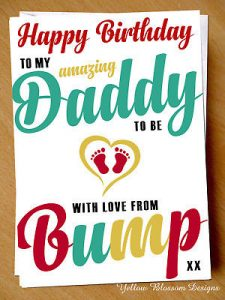 Dad's First Birthday with Baby Card