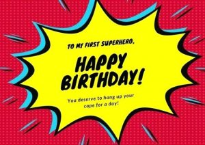 Free Birthday Card Templates for Superhero Dad