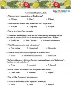 Free Christmas Trivia Games Printable